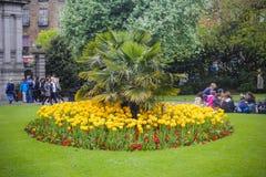 Garden of St. Stephens Green, Dublin, Ireland Royalty Free Stock Photos