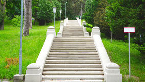 Garden and stair in the park Stock Photos
