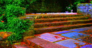 Garden Stairs Stock Photos