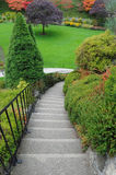 Garden stairway Stock Photo