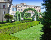Garden in the state of Vatican. Cityscape in a sunny day Stock Image
