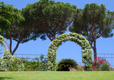 Garden in the state of Vatican Stock Photo