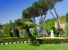 Garden in the state of Vatican in a sunny day Stock Photos