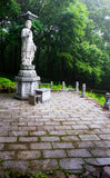 Garden statue of Buddha in the Sinheungsa Temple in Seoraksan Na. Tional Park, South korea Stock Photography