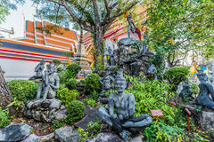 Garden statues Wat Pho temple bangkok Thailand Royalty Free Stock Photography
