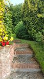 Garden steps Royalty Free Stock Images