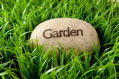 Garden stone stock photography