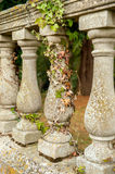 Garden stone balcony. Close up with ivy Stock Photos