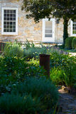 Garden at Stone Home Royalty Free Stock Photo