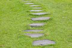 Garden stone nature pathway Royalty Free Stock Images