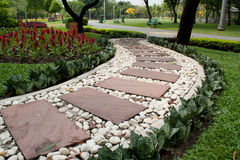 Garden Stone Path. View of garden Stone Path in Thailand Royalty Free Stock Photography