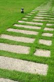 Garden stone path Royalty Free Stock Photo
