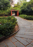 Garden stone path Stock Photo