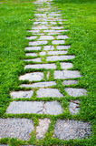 Stone path with grass Stock Photos