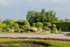 Garden stone path in park Royalty Free Stock Images