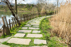 Garden Stone Path 2 Stock Photography