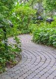 Garden stone pathway Royalty Free Stock Photo