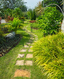 Garden stone pathway Royalty Free Stock Photos