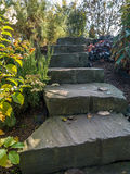 Garden stone stairs Royalty Free Stock Images