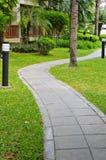 Garden stone walkway Royalty Free Stock Photo