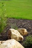 Garden stones. Decorative stones in a garden Stock Photo