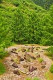 Garden of stones in Japan Stock Image