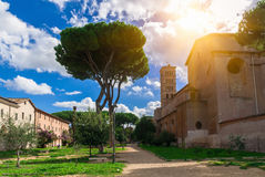 Garden Storico di Sant Alessio auf dem Aventine-Hügel in Rom stockfotografie