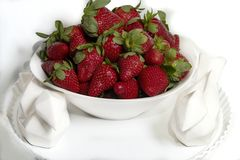 Garden strawberry is a widely grown hybrid species of the genus Fragaria, collectively known as the strawberries. Garden strawberry is a widely grown hybrid royalty free stock photos