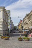 Garden street. In Tampere in western Finland royalty free stock photo