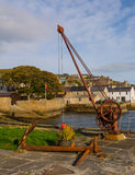Crane in Stromness Harbour Stock Photography