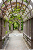 Garden structire. Italian style structure at Hamilton Gardens, Nee Zealand Stock Image