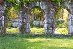 Garden structure from stone in The Mount estate. Stock Images