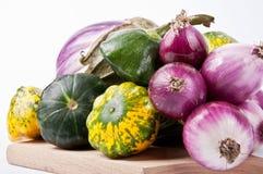 Garden stuff. Organic garden vegetables on plate Stock Photo