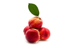 Garden-stuffs Juicy Ripe Nectarine Royalty Free Stock Image