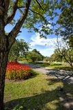 Garden in Suan Luang Rama 9 public park Royalty Free Stock Images