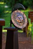 Garden sundial clock Royalty Free Stock Images