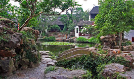 Garden in Suzhou near Shanghai, China Royalty Free Stock Photo