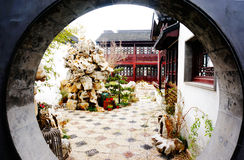 Garden, Suzhou. Garden of Old mansion in Suzhou, China Royalty Free Stock Photography