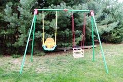 Garden swings for children Royalty Free Stock Image