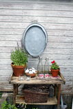 Garden table Stock Photo