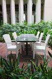 Garden table and chairs Stock Photography