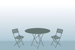 Garden table and chairs illustration Stock Photo