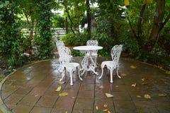 Garden table Royalty Free Stock Photo