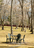Garden Table and Chairs Royalty Free Stock Photography