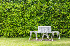 Garden table and chairs Royalty Free Stock Image
