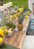 Garden Table setting Stock Photo