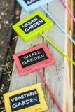 Garden tags Royalty Free Stock Photos