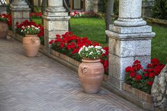 Garden at Taormina, Italy Royalty Free Stock Photos