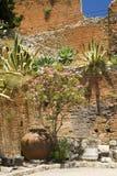 Garden taormina sicily Stock Images