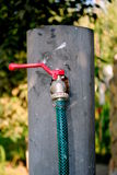 Garden Tap. A the village Royalty Free Stock Photography